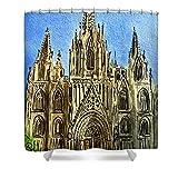Pixels Shower Curtain (74'' x 71'') ''Barcelona Spain''