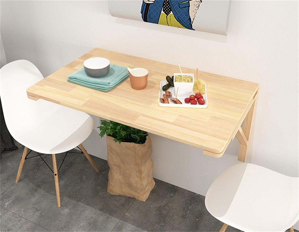 Cqq mesa de pared mesa plegable de madera maciza mesa peque a creatividad escritorio de - Mesa plegable pequena ...