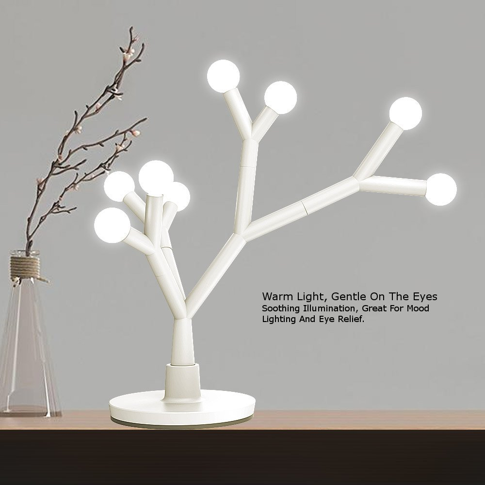 LED Table Lamp Decorative Tree Branch, Fugetek, 750 Lumen, Modern Design,  Interchangeable Branches, 8 Warm White ...