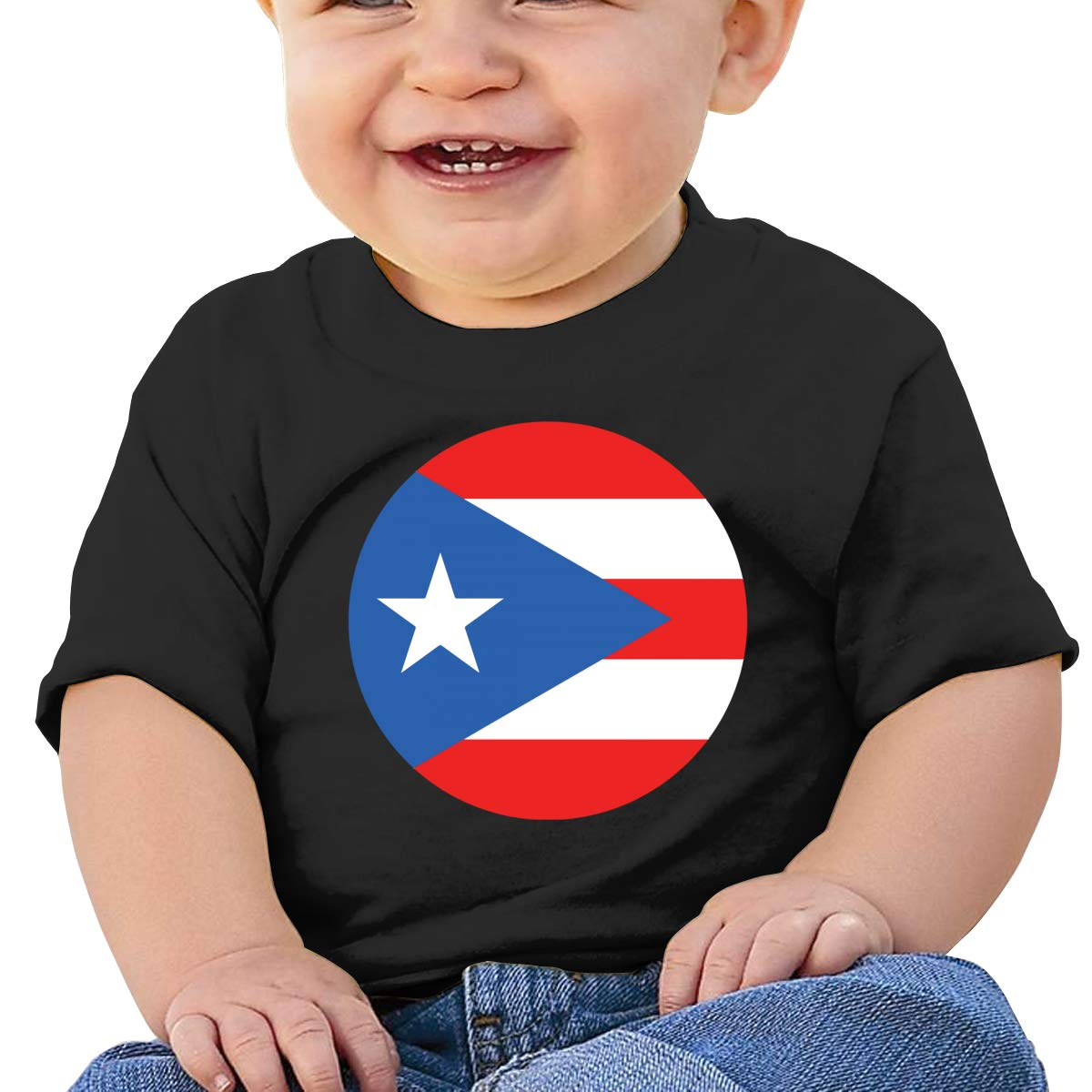 Puerto Rican Flag Baby T-Shirt Little Baby Cotton T Shirts Comfort Tops for 6M-2T Baby