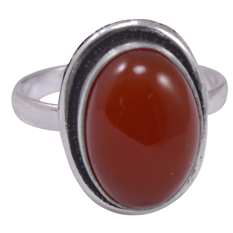 Silvestoo Jaipur Blue Color Sunstone Gemstone 925 Silver Plated Ring Sz 7.75 PG-103945