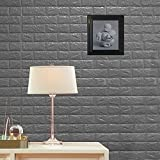Efavormart 10 PCS 58 Sq.Ft Silver 3D Faux Foam Bricks Self-adhesive Waterproof stick-on Wall Panel for Wedding Banquet Event