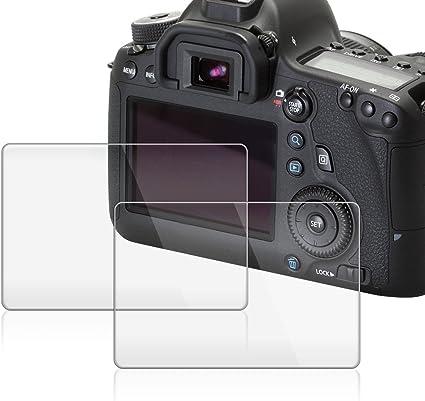 AFUNTA Protector de Pantalla para Canon EOS 6D, 2 Paquete la ...