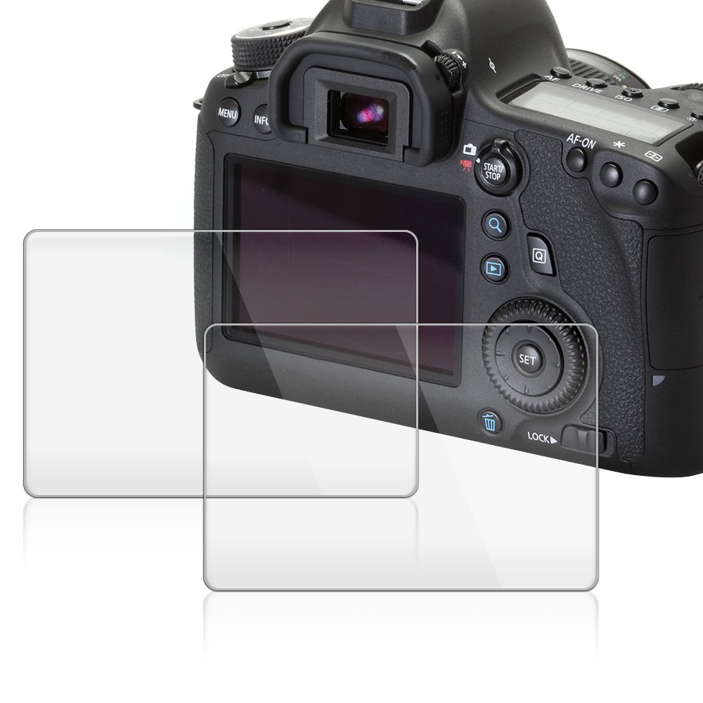 AFUNTA Protector de Pantalla para Canon EOS 6D, 2 Paquete la Cámara del Protector de