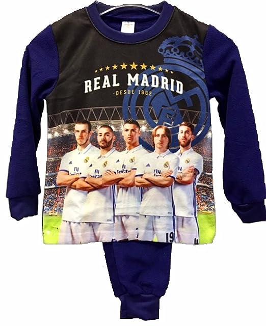 Real Madrid Pijama Niño Jugadores Micropolar (10 AÑOS)