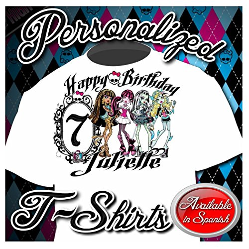 NEW CUSTOM PERSONALIZED MONSTER HIGH BIRTHDAY T SHIRT PARTY FAVOR ADD NAME (Monster High Girls Names)
