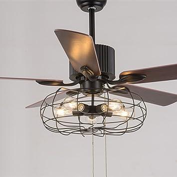 rainierlight estilo industrial ventilador de techo Mute ...
