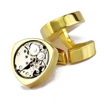 WoLoYo Gemelos de Forma de Movimiento de Reloj Vintage, Mecanismo de Reloj Redondo Steampunk no
