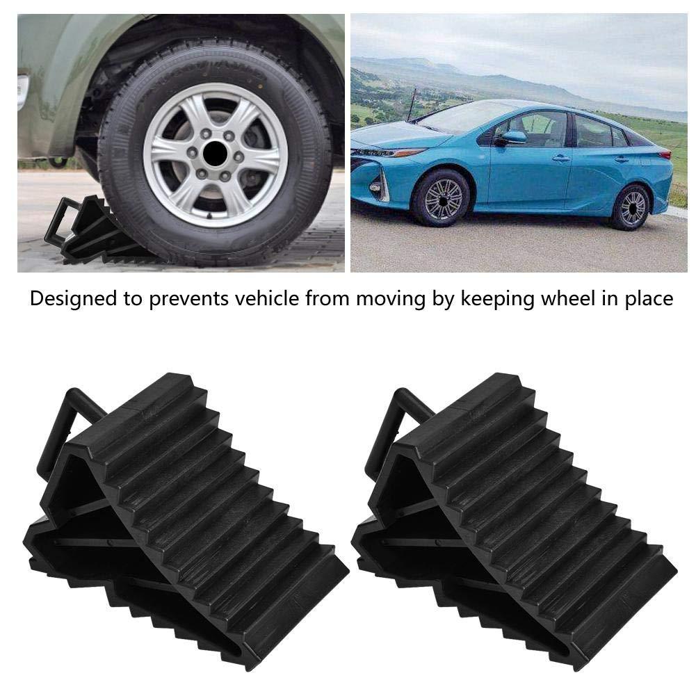2 st/ücke Auto Parkplatzbegrenzung Anti-slip Einparkhilfe Block Reifen Slip Stopper Achsvermessung Block Reifen Unterst/ützung Pad Radstopper