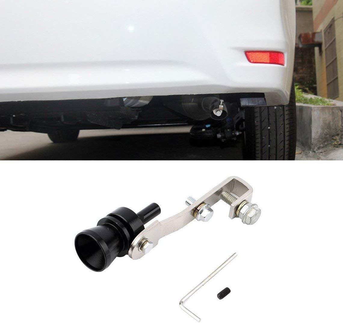 Zinniaya Universal de aluminio Cars Auto BOV Turbo Sound Whistle Tube Simulador de sonido Tubo de escape Tubo de silenciador