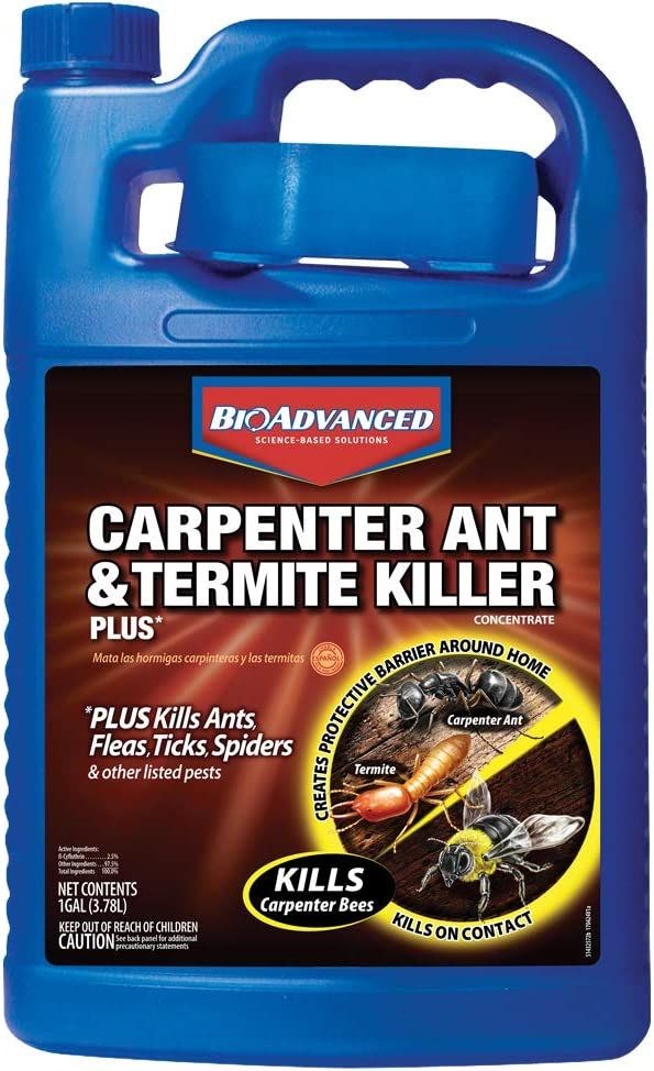 BioAdvanced 700315A Espoma GT4 4-Pound Garden-Tone 3-4-4 Plant Food Carpenter Ant and Termite Killer Plus Concentrate, 1-Gallon, Yellow