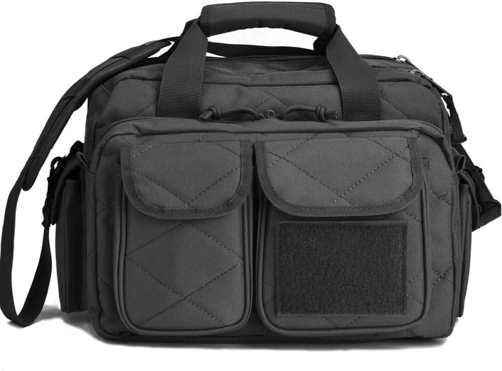Tactical Gun Range Bag, Deluxe Pistol Shooting Range Duffle Bags