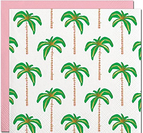 (Palm Tree Themed Beverage Napkins 40 Count 5