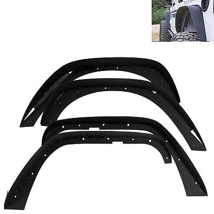 UDIT Front /& Rear Black Textured Full Size Heavy Duty Steel Fender Flares for 2007-2018 Jeep Wrangler JK /& Unlimited 4 PCS