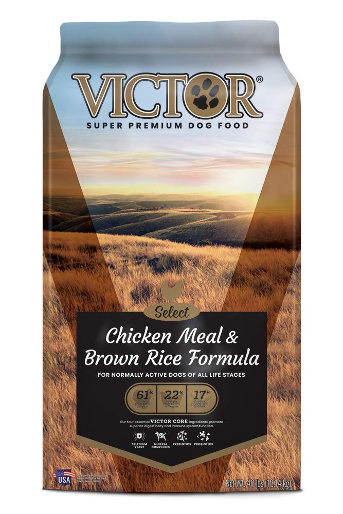 Victor Select – Chicken Meal Brown Rice Formula, Dry Dog Food