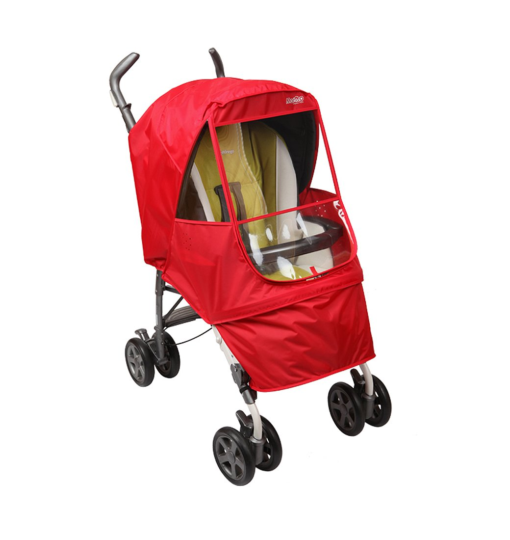 Manito Elegance Alpha Stroller Weather Shield/Rain Cover - Red
