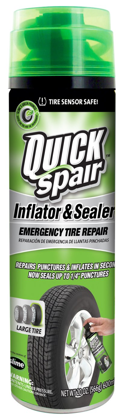 Slime 60190-6PK Quick Spair Tire Inflator with Eco-friendly Formula - 20 oz. (Pack of 6)