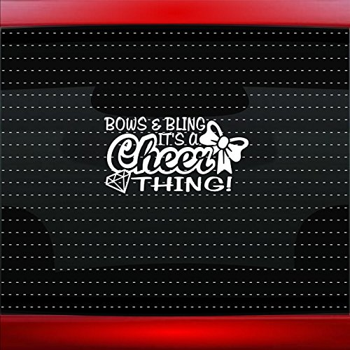 Bows & Bling It's A Cheer Thing Family Mom Car Sticker Truck Window Vinyl Decal COLOR: PURPLE