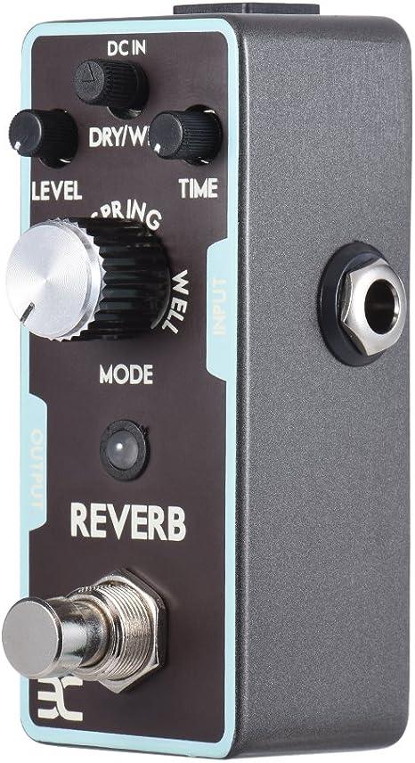 ammoon ENO Guitarra Efecto Pedal Reverb True Bypass: Amazon.es ...