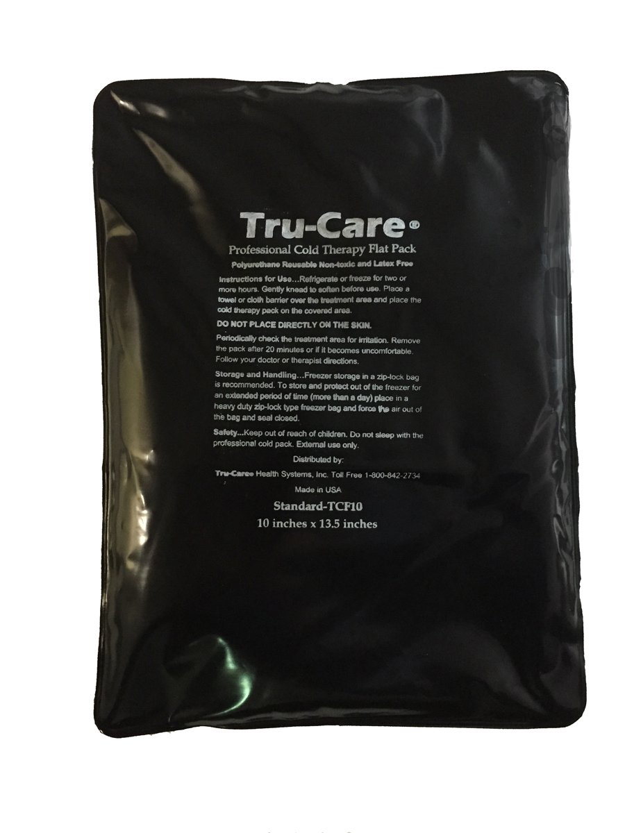 Tru-Care Reusable latex Free Ice Gel Pack (Standard 10x13.5 Inches)