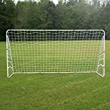 ZENY 12 X 6 FT Portable Soccer Goal Football Goal Steel Post Netting, Sports Training Net