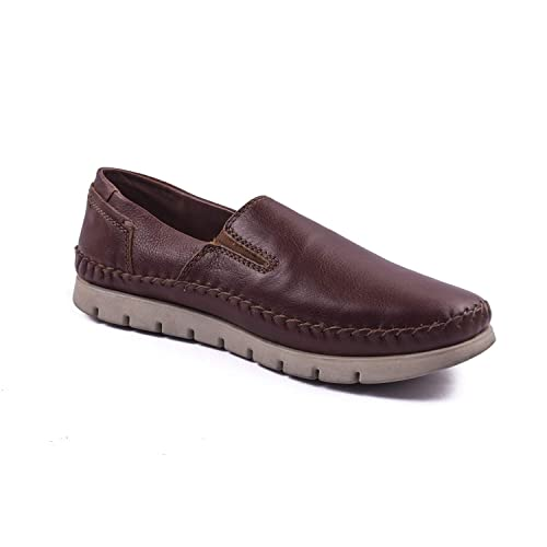 9f2146688f5a DOC   MARK Men s Leather Slip-on Boat Shoes- Brown  Buy Online at Low  Prices in India - Amazon.in