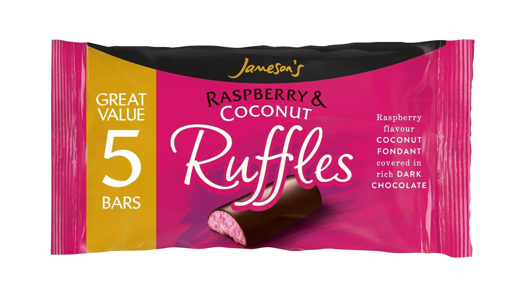 Jamesons Raspberry & Coconut Ruffles 26g 5 Bars