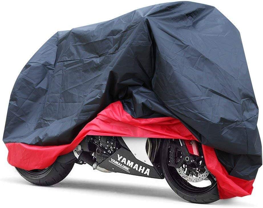 GHB Funda para Moto Funda Talla XXL 265cm Protector Cubierta de Moto para Resistente al Agua A Prueba de UV