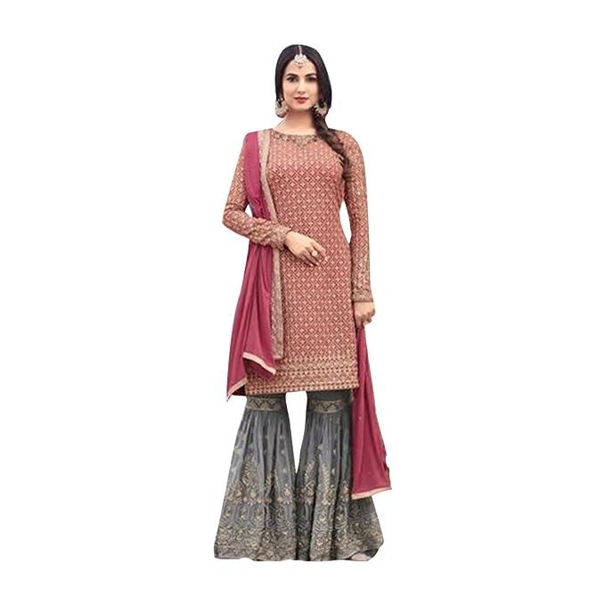 Amazon.com: Bollywood trabajo pesado novia sahrara Anarkali ...