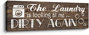 Laundry Room Wall Decor, Farmhouse Wall Art, Laundry Sign Home Decorations (Brown)