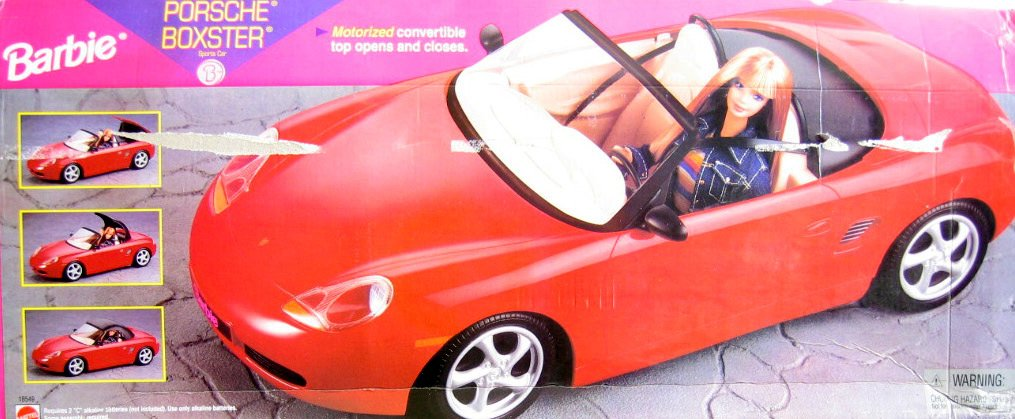 Amazon.com: Barbie PORSCHE BOXSTER Sports CAR With MOTORIZED Convertible  TOP Opens/Closes (1998): Toys U0026 Games