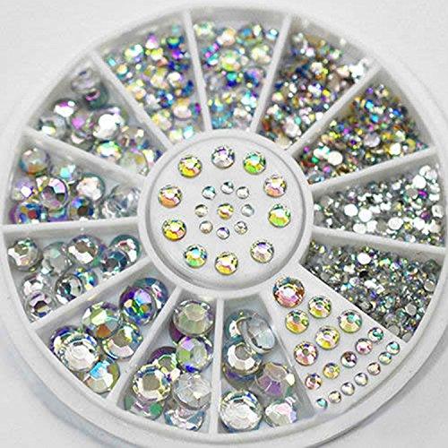 Nail Art Decoración Blanco brillantes Glitters acrílico decoración rueda para uñas arte herramientas de diseño por Clest F & H Clest F&H