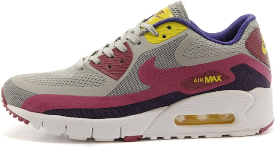 Nike Air Max 90 zapatillas running para mujer, gray cherry red ...