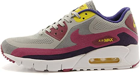 Nike Air Max 90 zapatillas running para mujer, gray cherry red/white: Amazon.es: Deportes y aire libre