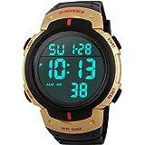 Impermeabile SunJas Led digitale allarme Calendario orologio sportivo uomo orologio da polso