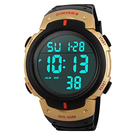 Reloj digital resistente al agua