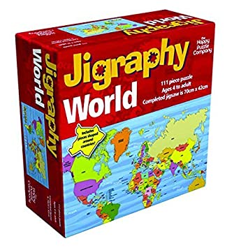 Jigraphy world map jigsaw puzzle amazon toys games jigraphy world map jigsaw puzzle gumiabroncs Images