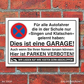 2203f Schild Parkverbot Halteverbot Garage Singen 3 Mm Alu
