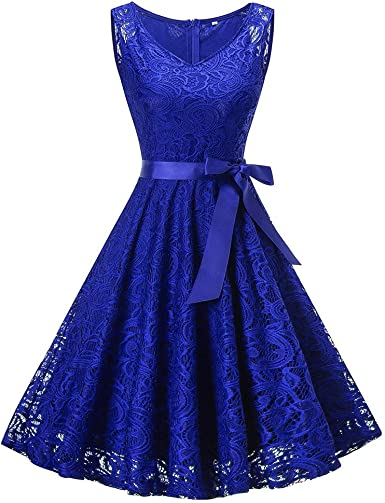 Vestiti Eleganti Amazon.Modaworld Vestiti Donna Vintage Cocktail Vestiti Elegante Donna Hi