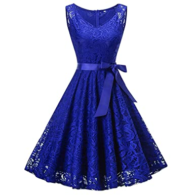 Big Promotion Caopixx Ladies Vintage Cocktail Evening Party Dresses Lace Homecoming Prom Dress for Women