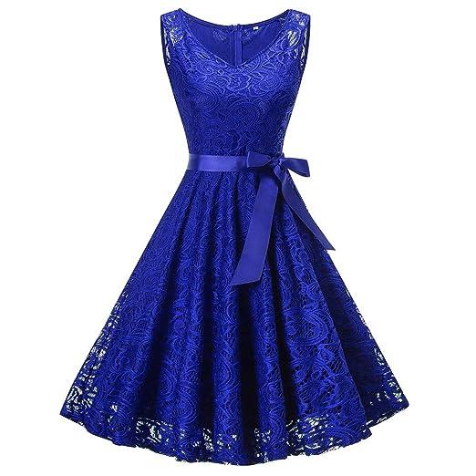 8198a4aefee DEATU Bridesmaid Lace Dress Women Sleeveless Long Sleeve Formal Ladies  Wedding Bridesmaid Lace Long Dress