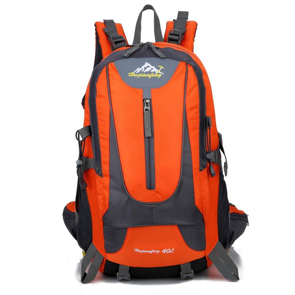 Orange  Sac à dos de randonnée, 40L étanche Oxford voyage Sac à dos Trekking Daypack Sac à dos d'alpinisme pour 14 pouces Sac pour ordinateur portable Hommes Femmes Sport
