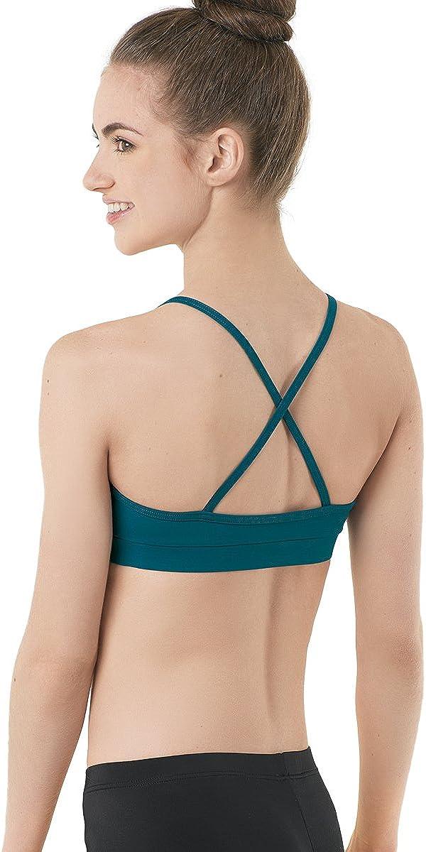 Balera Bra Top Girls Sports Bra for Dance Camisole Skinny Strap Crossover V Neck Bra Top