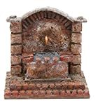 Holyart Antique electric Fountain for nativity 18x16x16cm