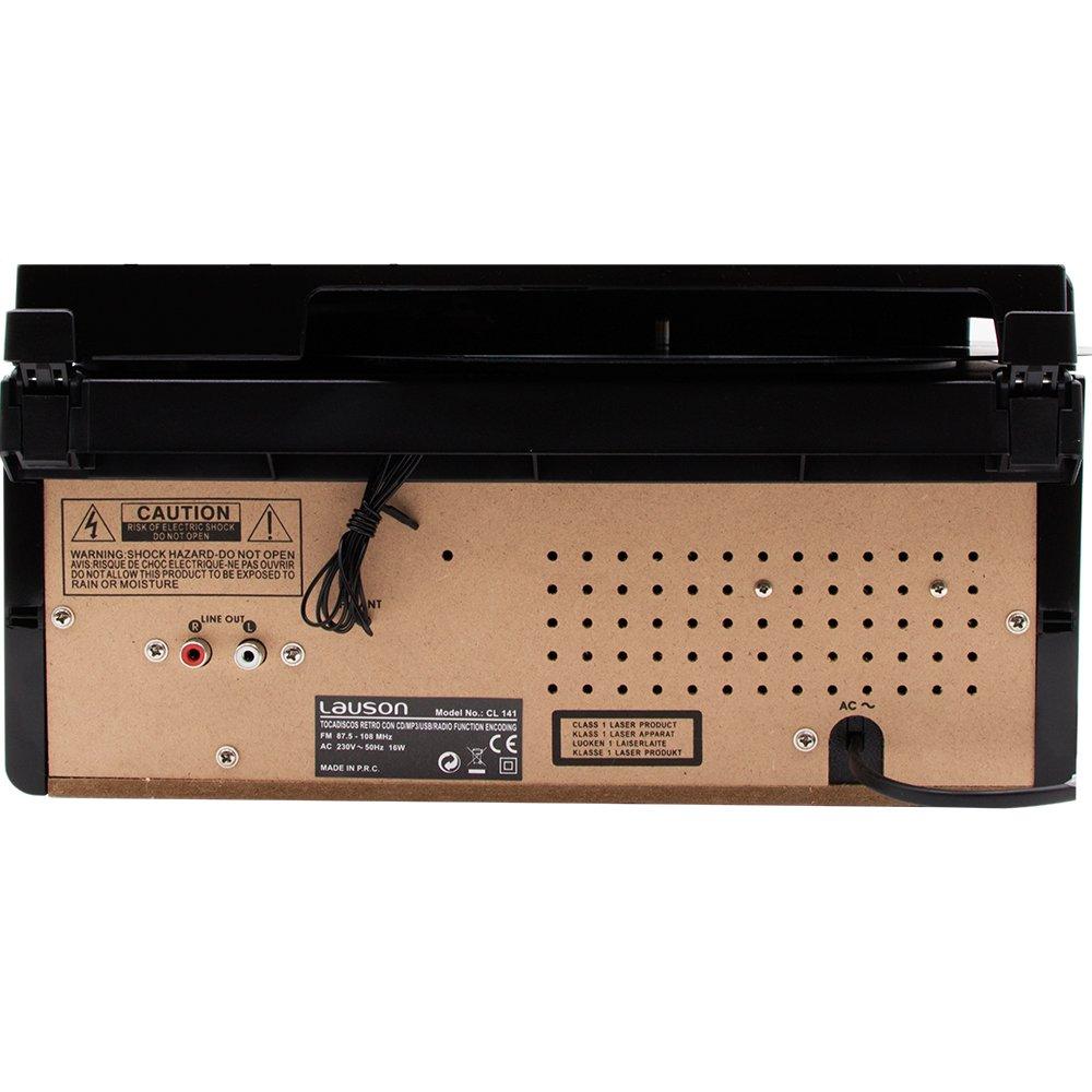 Lauson - Tocadiscos cl141 con CD, Radio, USB Grabador y Bluetooth