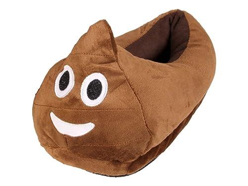 on sale 40dff 7ff7e Alsino Emoji Kuschel Hausschuhe Emoticon Geschenkidee Emoji-Hausschuhe  Plüsch Smiley Schuhe Winter Puschen Rutschfest