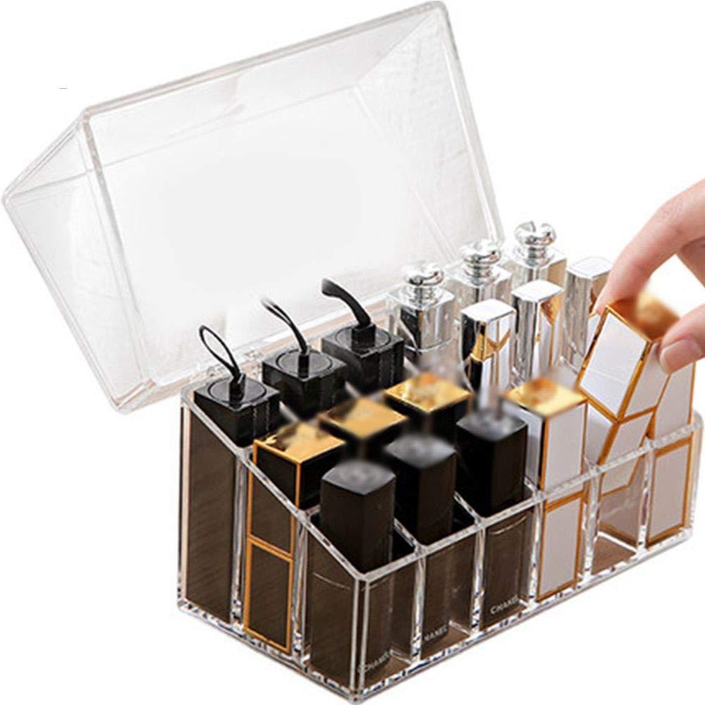 CFHMXN Maquillaje Organizador de acrílico plástico del Maquillaje Maquillaje Maquillaje Organizador de la Caja de lápiz Labial Laca de uñas en casa Las Cajas de cosméticos de Almacenamiento de plásticos 33e10e