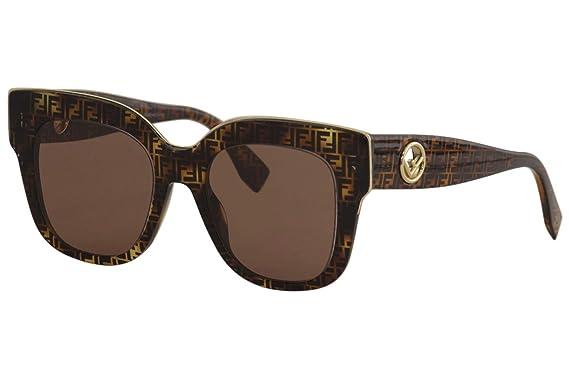 Amazon.com: Fendi - Gafas de sol cuadradas con logotipo para ...