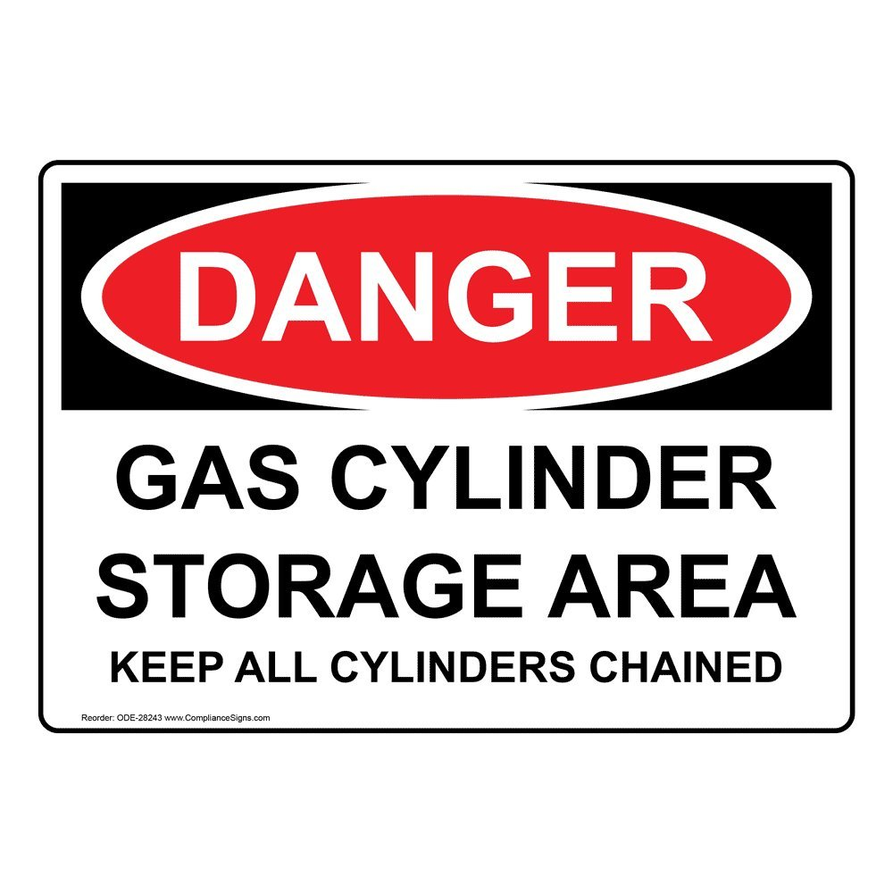 OSHA NOTICE SAFETY SIGN STORE FULL GAS CYLINDERS HERE 10x14
