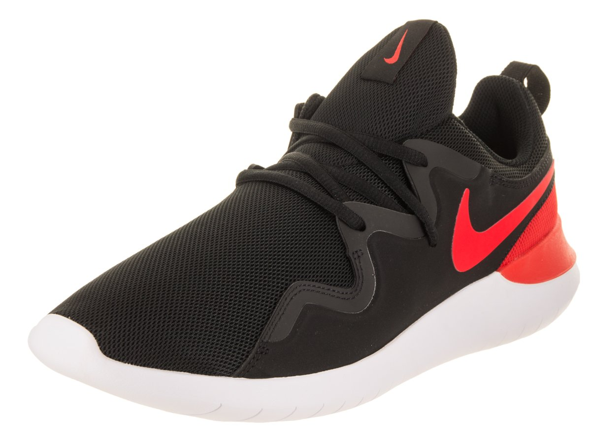 NIKE Men's Tessen Casual Shoe 8.5 D(M) US|Black/Habanero Red-white